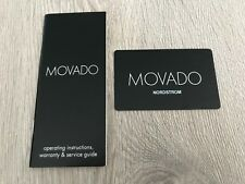Instructions Warranty And Warranty Card New Movado Watch Booklet Operating