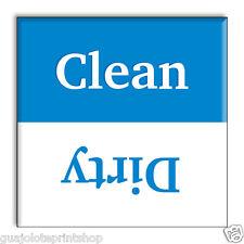 Clean Dirty Dishwasher Magnet Blue Decorative Home & Kitchen Magnetic Flip Sign