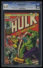 Incredible Hulk (1968) #181 CGC FN 6.0 Cream To Off White 1st Wolverine!