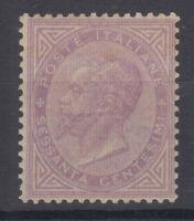REGNO D'ITALIA 1863-65 60 CENTESIMI TORINO N.T21 G.I MNH** CENTRATO FIRMATO