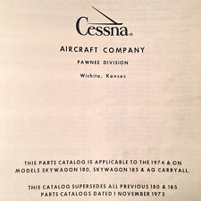 1974-1975 Cessna 180 and Cessna 185 AGcarryall Parts Manual