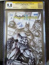 Batman Teenage Mutant Ninja Turtles II #1 SKETCH CGC SS 9.8 signed Williams TMNT