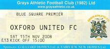 Ticket - Grays Athletic v Oxford United 15.11.08