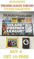 PANINI TABLOID Sticker Collection - SINGLE STICKERS - BUY 4 GET 10 FREE