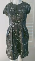 C/TC CUE IN THE CITY Designer Corporate Cocktail Dress Sz 10 S Steele Grey Blue