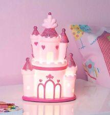 Pink Princess chateau de lampe de table-Enfants Filles Chambre Lumière Nuit Grande Décoration/Cadeau