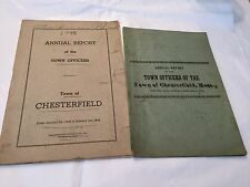 1902 and 1943 Annual Report of the Town CHESTERFIELD,MASS and RHOADES family