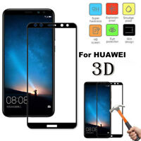 3D Full Cover Temper glass Screen Protector For Huawei P10/P20/P9/Y6/Y7/Lite