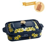 BRUNO Compact Electric Griddle Hot Plate Lemon Flower Cooking Japan EMS NEW