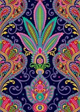 Quilting Treasures Fabric IMPERIAL PAISLEY Navy- yards