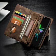 Echt Leder Handy Tasche Schutz Hülle Case Multifunktion Wallet Cover Etui DECC