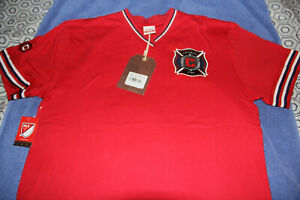 Chicago Fire Shirt Mitchell & Ness Overtime Win Vintage Jersey MLS Mens Large