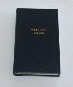 Masonic West End Ritual Book  (STFH)