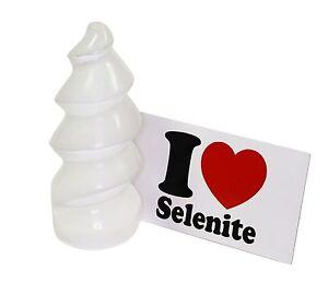 Selenite Spiral Tower 4 Inch 100mm Natural Healing Crystal Gemstone Specimen