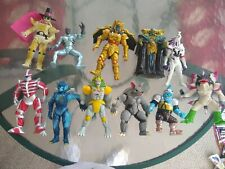 Vintage MMPR Power Rangers Evil Space Aliens 8in Mixed 11Piece Lot Used but nice