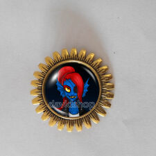 Undertale Brooch Fashion Jewelry Gift Cosplay Badge Pin Undyne Alphys Pendant