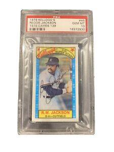 1979 Kellogg's #46 Reggie Jackson (1978 Games = 139) New York Yankees HOF PSA 10