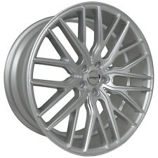 4 GWG FLARE 22 inch STAGGERED Silver Rims fits MERCEDES S550 (221) 2007 - 2013