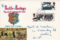 14/10/1966 UK GB FDC - Battle of Hastings - Coat of Arms - Hastings FDI Postmark