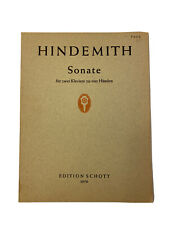 Hindemith: Sonata for 2 Pianos Book~1942~Edition Schott #3970