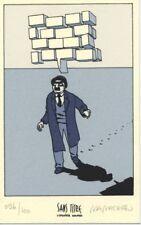 Ex-libris Sérigraphie Julius Corentin Acquefacques Homme marchant