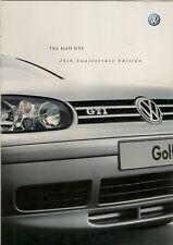 VOLKSWAGEN Golf GTI 25th aniversario edición limitada de Mk4 2002 Folleto de mercado del Reino Unido