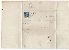tp seul sur lettre entière napoléon yt n° 15 année 1854