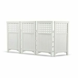 Suncast FS4423 Outdoor Screen Enclosure Gate Fence - White