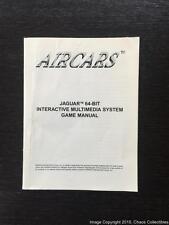 Air Cars (Atari Jaguar) Original Instruction Manual - Complete Yours aircars