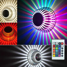 5X RGB LED Applique Lampe Murale Déco Salon Salle Lampe de Mur Plafonnier+Remote