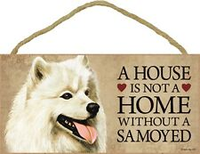 Samoyed Wood Sign Wall Plaque 5 x 10 + Bonus Coaster