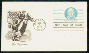 Mayfairstamps US FDC 1976 Caesar Rodney Artmaster First Day Cover wwm_26413