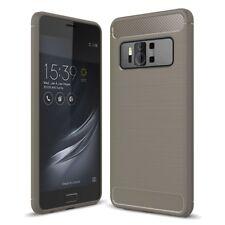 Asus Zenfone Ar ZS571KL TPU Case Carbon Fiber Look Brushed Cases Grey
