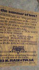 Summer of Love concert poster Tulsa OK ORIGINAL MINT