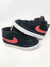 RARE Nike Blazer Lite Mid black Red White toddler  Shoes 375746 001  - Size 9c