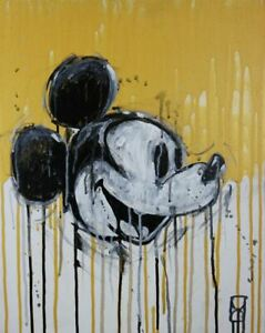 """Modern contemporary acrylic painting on canvas """"Dirty Mickey"""" by David Calleja"""