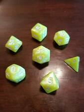 Yellow Pearl Dice Set 7 Dice Set Polyhedral DND Dungeons & Dragons Pathfinder