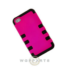 Apple iPhone 4/i4S TUFF Hybrid Case Hot Pink Case Cover Shell Guard
