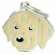 My Family Golden Retriever ID Tag - 3 Lines Engraving Available