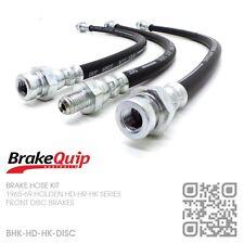 BRAKEQUIP DISC BRAKE HOSE KIT [HOLDEN HD-HR-HK UTE/VAN/SEDAN/WAGON/MONARO/GTS]