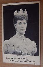 Postcard H.M Queen Alexandra posted 1905
