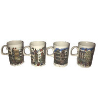 Dunoon  Made In Scotland Winter Scene Fine Bone China Coffee Mugs Cups Set (4)