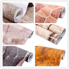 Vinyl Brown Marble Granite Self Adhesive Wallpaper Roll Kitchen Counter Top 16ft