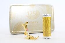 Original BERNINA - Jubiläumsbox Gold  mit Nähfuß Nr.1 125 Jahre BERNINA