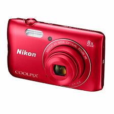 Nikon Coolpix A300 Rot 20,1 Megapixeln Kompaktkamera WLAN-fähig