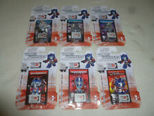 NEW TRANSFORMERS FIGURINES 3D PUZZLE PIECE COLLECTOR CARDS LOT OPTIMUS MEGATRON