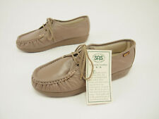 New SAS Siesta Mocha Leather Walking Moccasin Shoes 7.5 WIDE