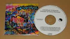 Coldplay & Rihanna Princess Of China UK Promo 5Trks Remixes CD R RARE