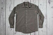 EDDIE BAUER Plaid 100% Cotton Button Front Shirt Men's Sz. LT