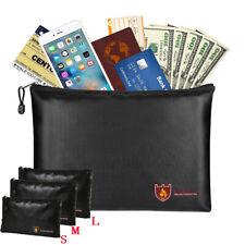 Fireproof Waterresistant Money Bag Envelope Safe Document Box File Pouch Case US